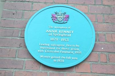 Annie Kenney blue plaque