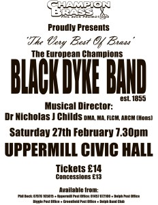 Black Dyke Upermill Poster For Feb 2016