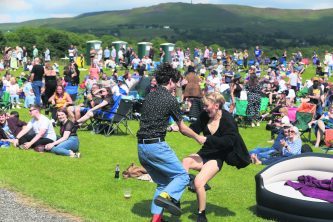 Carl Walsh and Liberty Eaton dance at Wellifest by Carl Royle