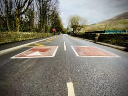 Chew Valley Road speed cushions, Greenfield (2)