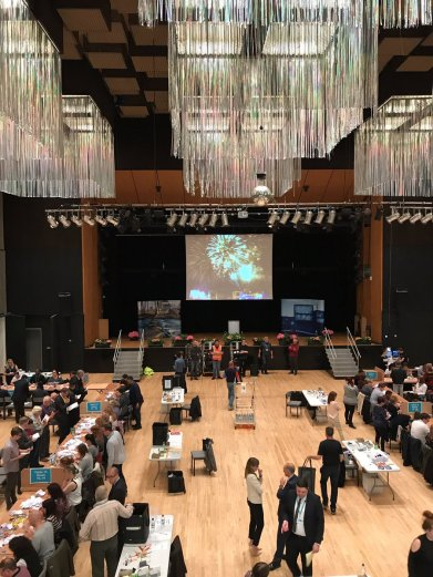 The count at the Queen Elizabeth Hall in Oldham