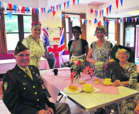 In Uppermill, St Chad's Church and Sacred Heart hosted their annual NAAFI Cafe at Sacred Heart Parish Rooms to raise money for next year's Whit Friday walk