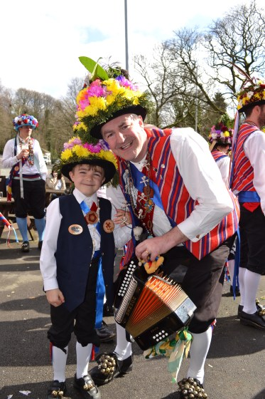 Morris Man Simon Williams with son Joel, 7