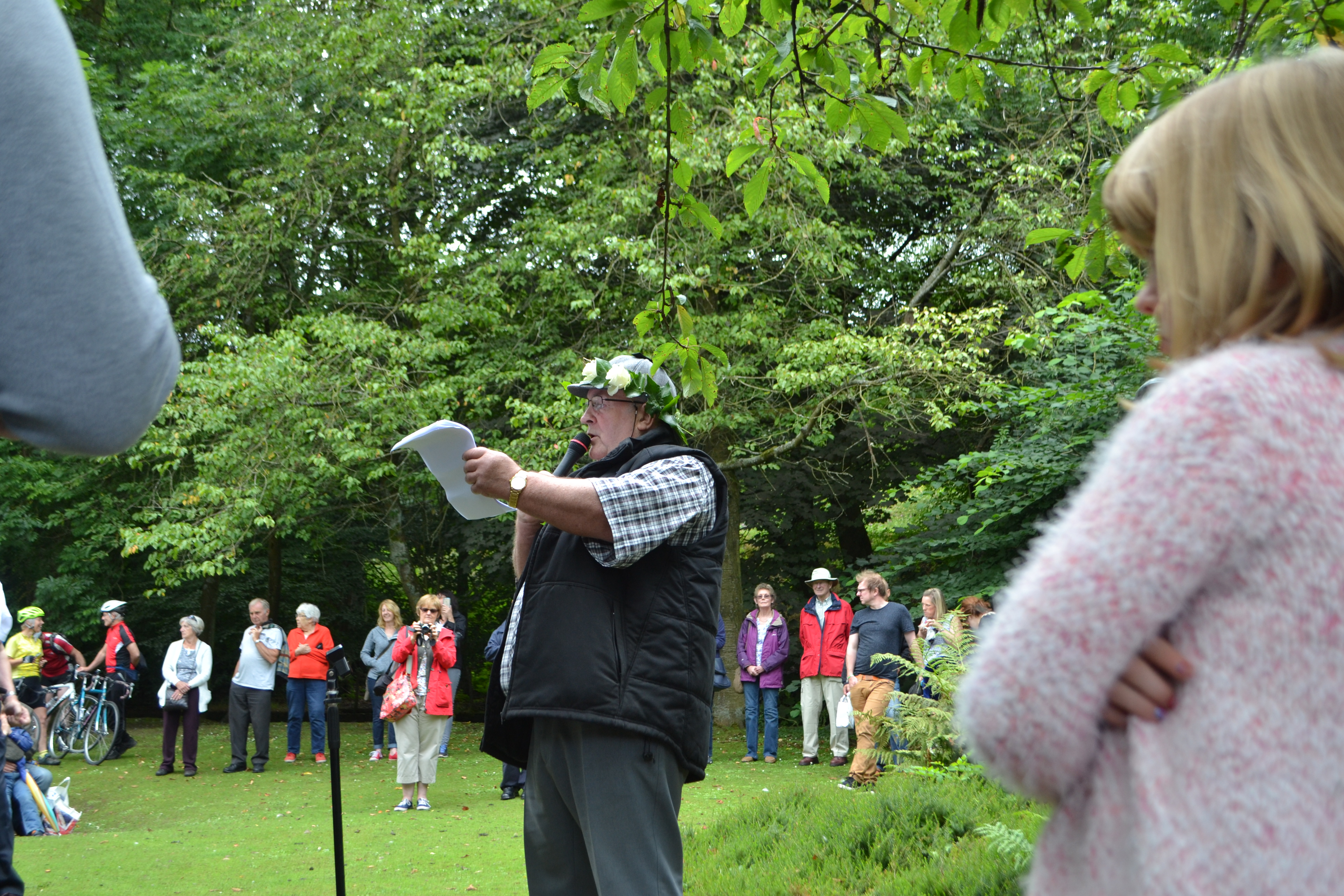 Bob Rodgers reads the Yorkshire Declaration of Integrity