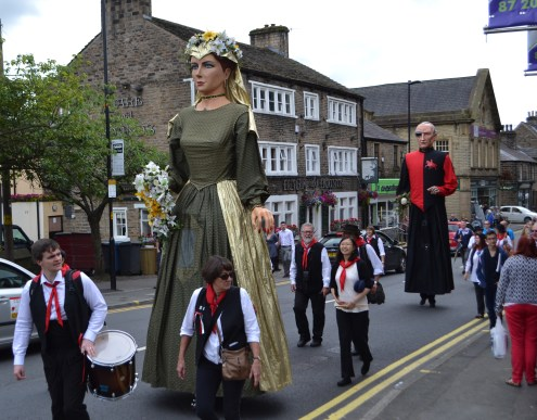 The Sheffield City giants War and Peace in the procession