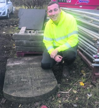 David Whitmore and boundary stone