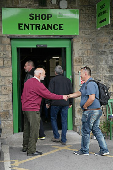 Richard Darlington (Patron of Emmaus Mossley) welcoming visitors to Emmaus Mossley
