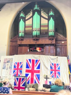 Flags and organ