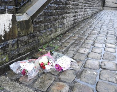 Floral tributes uppermill (1)