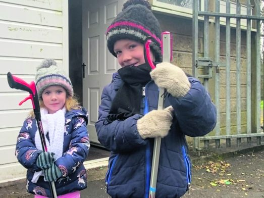 Grotton Spring Clean Harper and Jake Mulholland