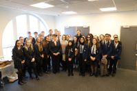 Daughter of Holocaust survivor visits Oldham Sixth Form College