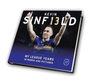 Kevin Sinfield 3D book cover