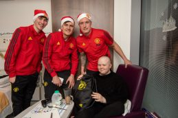 Manchester United players at the Christie2