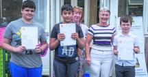 Matthew Sahil Jayden get awards from Alison and Zoe