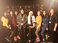 Mayor & Youth Mayor with Oldham College students