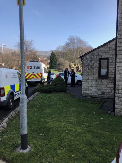 Officers at Chew Brook Drive