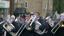 Penrith Town Band on Chew Valley Road Greenfield