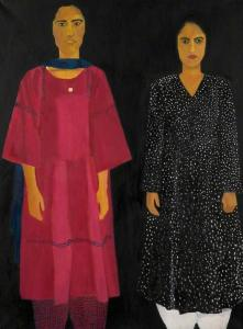 Portrait of Two Sisters by Anila Majid