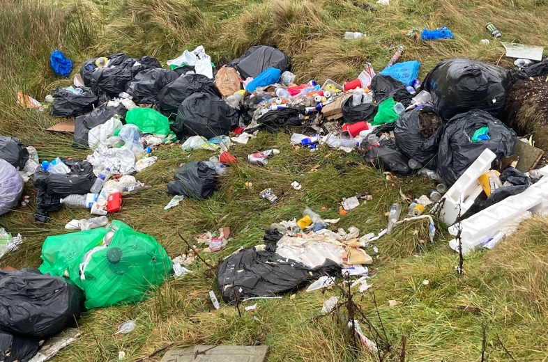 Ripponden Road fly tipping