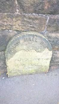 Shaw Hall Bamk boundary stone