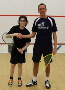 Squash Tournament Winner Christian Maddox