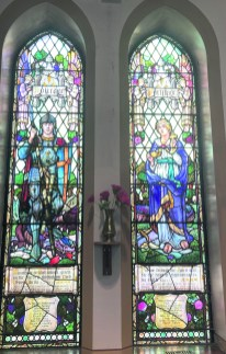 Stained glass windows Courage and Fortitude