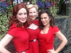Vintage songbirds 'Misfit Sugar Dames' Merrilyn Greer, Tania Pais Monteiro and Catherine Hearne in Dobcross