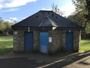 Public toilets in Uppermill Park