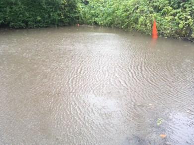 The car park flooded in November