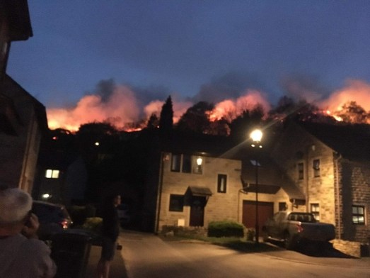 Uppermill fire behind Kenworthy