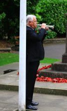 John Whittle playing the Last Post and Reveille