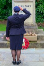 Alison Clowes lays the wreath