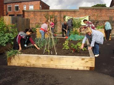 Volunteers at Failsworth Hub