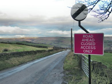 highmoor Road closed 1