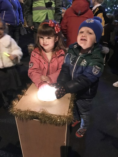 Switch on at Lydgate (pictures thanks to Zoey Sweeney)