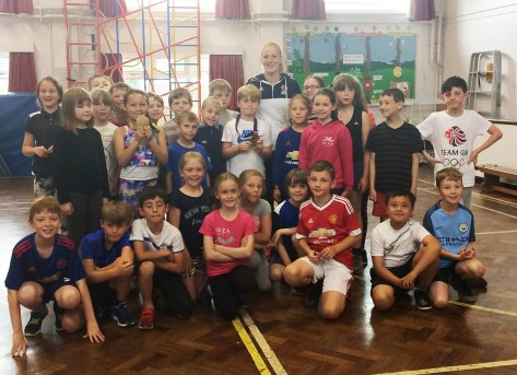 Nicola on a recent visit to Delph Primary