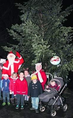 Father Christmas joined families at Lees