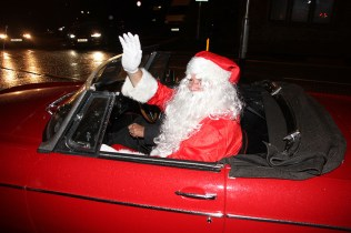 Father Christmas arrives at Lydgate