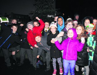 Residents gather at Lydgate
