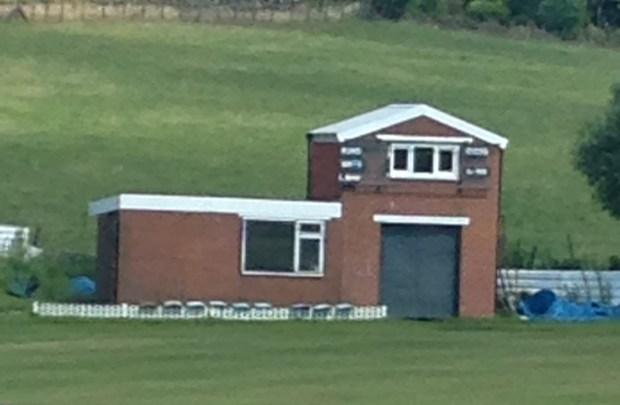 p14 IDTB Score board, Delph & Dobcross cricket