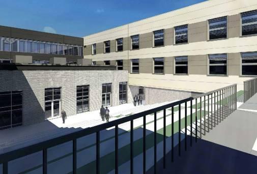 sadd school rear courtyard terraces