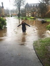 Outside St Chad's Library in Uppermill (Picture thanks to Julian Taylor)