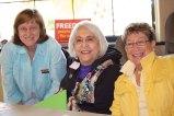 Jeana Butler, PFLAG proud parent; Syrile Ellison proud parent of Jo Ann Ellison president of GLAAS and Alice Frier GLAAS secretary