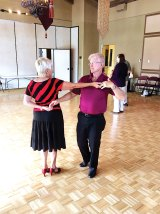 Claudia Booth and Barry Moore teaching Swing in February