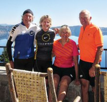 Cyclemaster members the Monfores and Apfelbaums make an annual trip to Crater Lake.