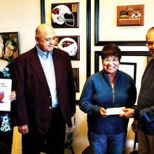 Left to right: Joanna Voisine, Joseph Voisine, Maggie DeBlock and Allen Kienitz; photo by Bill Brennan.