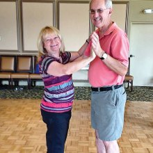Dedicated dance students Debbie and Don Grafmller prepare to learn the West Coast Swing