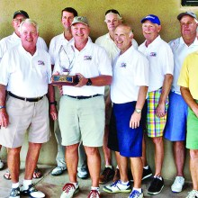 Back row left to right: Bill Webster, Jim Hardwick, Mark Hojnacki, Ken Steinke (Pro), John Aronson, Dick Stanley, Peter Backer and Matt Kambic; front row: George Govier, Fred Schneider, Bob Eder, Dennis Marchand and Grant Farquhar. Not shown: Bruce Fink, Mick Borm and Jon Michels