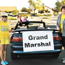 Grand Marshals Melanie Stout and Anni Evans were selected to lead the walk because of their longtime dedication to Kids' Closet.