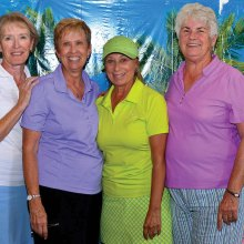 Tucson winners, left to right: Phyll McDonald, Shirley Morris, Toni Chardukian and Jean Reitan; photo by Bob Koblewski